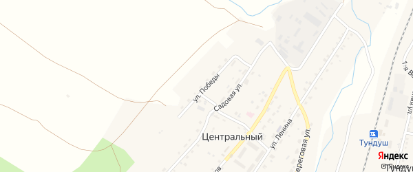 Улица Победы на карте Центрального поселка с номерами домов