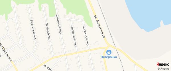 Дорожный переулок на карте Учалы с номерами домов
