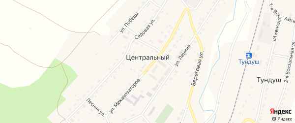 Территория ГК Центральный на карте Златоуста с номерами домов