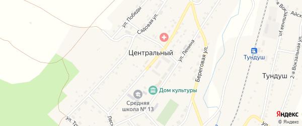 Улица Механизаторов на карте Центрального поселка с номерами домов