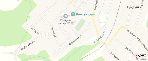 Молодежная улица на карте Центрального поселка с номерами домов