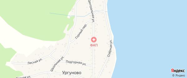 Центральная улица на карте села Ургуново с номерами домов