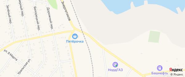 Улица Энергетиков на карте Учалы с номерами домов
