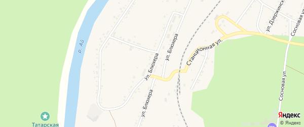 Улица Блюхера на карте Кусы с номерами домов