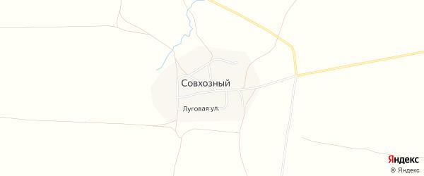 Карта Совхозного поселка в Челябинской области с улицами и номерами домов
