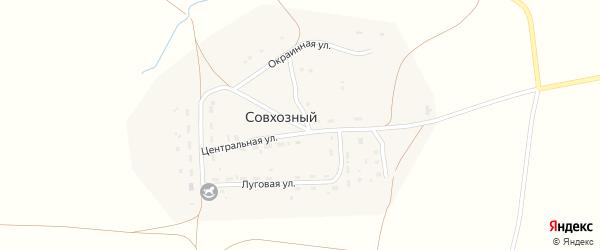 Полевой переулок на карте Совхозного поселка с номерами домов