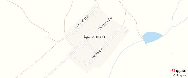 Заречная улица на карте Целинного поселка с номерами домов