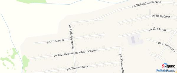 Улица С.Агиша на карте села Учалы с номерами домов