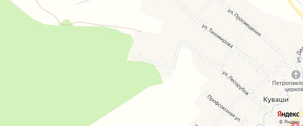 Улица Красная горка на карте села Куваши с номерами домов