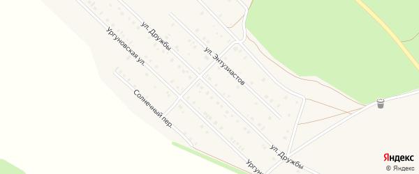 Улица Дружбы на карте села Учалы с номерами домов