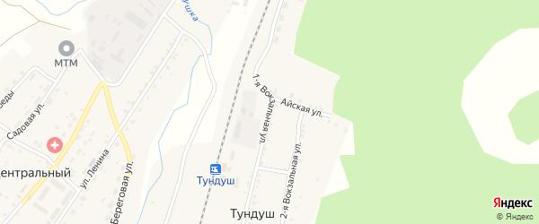 Вокзальная 1-я улица на карте поселка Тундуша с номерами домов