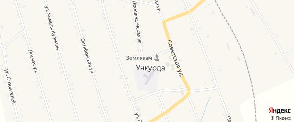 Улица Павлика Морозова на карте села Ункурды с номерами домов