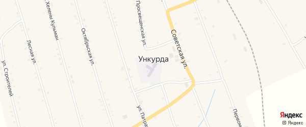 Молодежная улица на карте села Ункурды с номерами домов