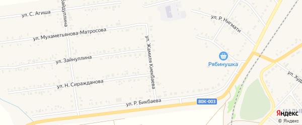 Улица Киекбаева на карте села Учалы с номерами домов