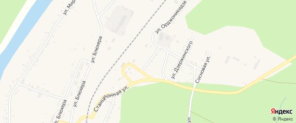 Улица Орджоникидзе на карте Кусы с номерами домов