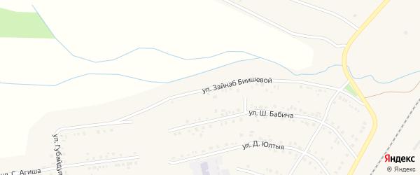Улица Зайнаб Биишевой на карте Учалы с номерами домов