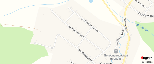 Улица Тихомирова на карте села Куваши с номерами домов