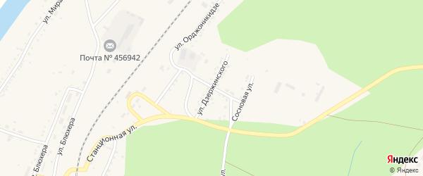 Улица Дзержинского на карте Кусы с номерами домов