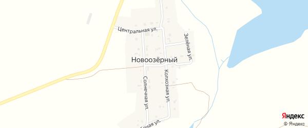 Солнечная улица на карте Новоозерного поселка с номерами домов