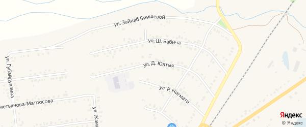 Улица Д.Юлтыя на карте села Учалы с номерами домов