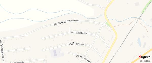 Улица Ш.Бабича на карте Учалы с номерами домов