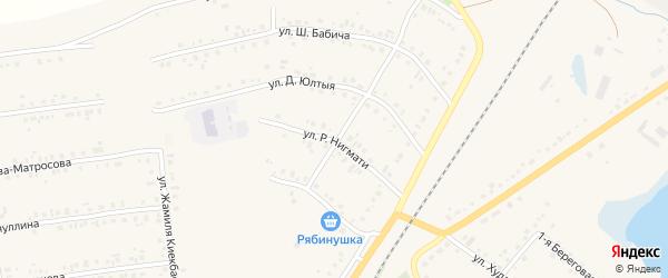 Улица Р.Нигмати на карте села Учалы с номерами домов