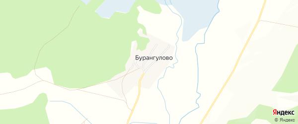 Карта деревни Бурангулово в Башкортостане с улицами и номерами домов