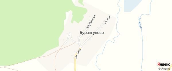 Сосновая улица на карте деревни Бурангулово с номерами домов