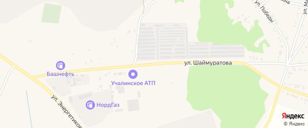 Улица Шаймуратова на карте Учалы с номерами домов