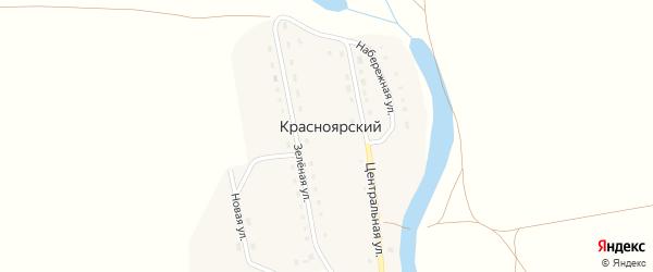Зеленая улица на карте Красноярского поселка с номерами домов