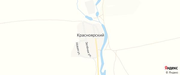 Карта Красноярского поселка в Челябинской области с улицами и номерами домов