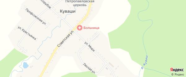 Советская 2-я улица на карте села Куваши с номерами домов