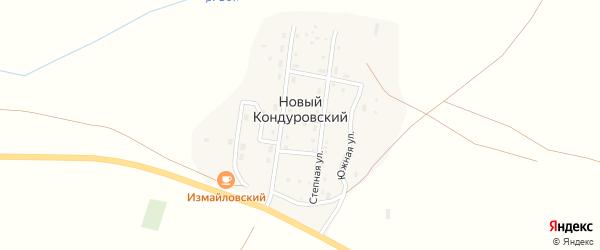 Южная улица на карте Нового Кондуровского поселка с номерами домов