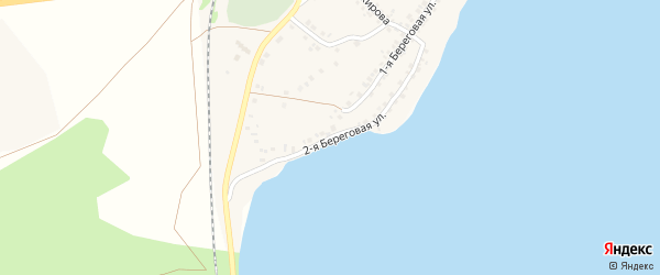 Береговая 2-ая улица на карте села Учалы с номерами домов
