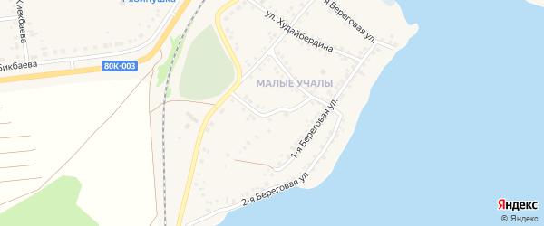 Мирный переулок на карте села Учалы с номерами домов