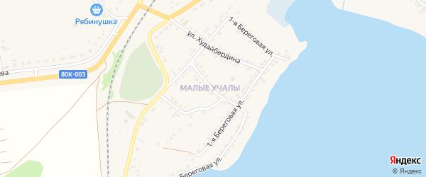 Улица Кирова на карте села Учалы с номерами домов