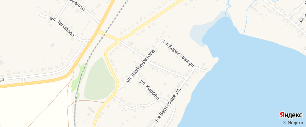 Улица Худайбердина на карте села Учалы с номерами домов