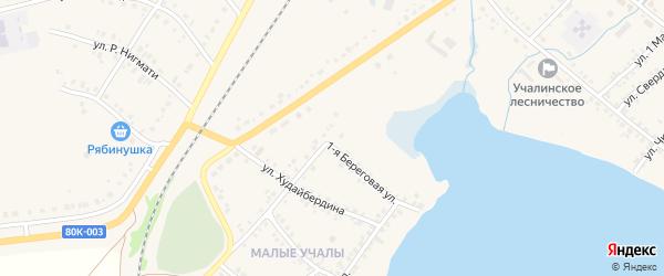 Улица Шаймуратова на карте села Учалы с номерами домов