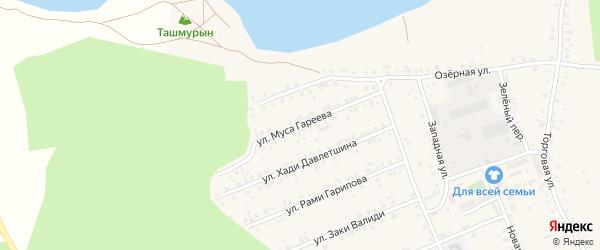 Улица М.Гареева на карте села Учалы с номерами домов