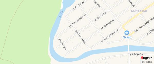 Улица Тельмана на карте Кусы с номерами домов
