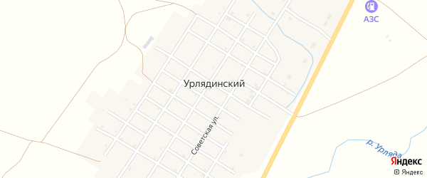 Пролетарская улица на карте Урлядинского поселка с номерами домов