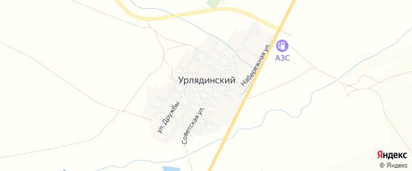 Карта Урлядинского поселка в Челябинской области с улицами и номерами домов