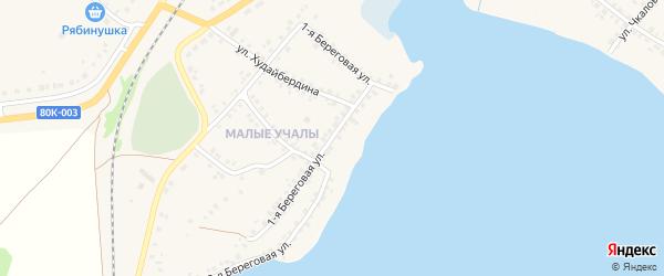 Береговая улица на карте Учалы с номерами домов