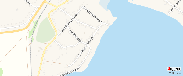 Береговая улица на карте села Учалы с номерами домов