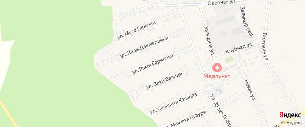 Улица Рами Гарипова на карте села Учалы с номерами домов