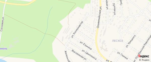 Улица Космонавтов на карте Кусы с номерами домов