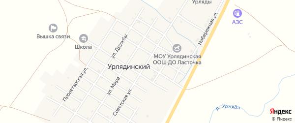 Советская улица на карте Урлядинского поселка с номерами домов
