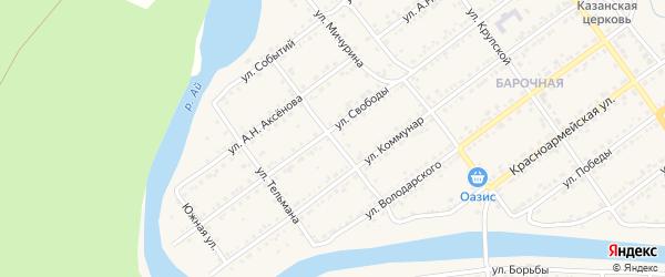 Календарная улица на карте Кусы с номерами домов