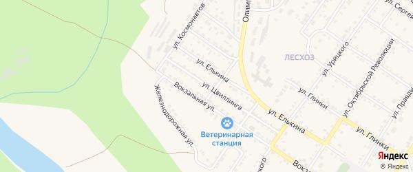 Улица Цвиллинга на карте Кусы с номерами домов