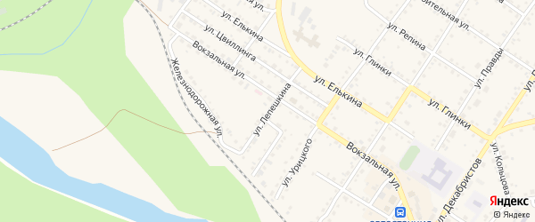 Улица Лепешкина на карте Кусы с номерами домов